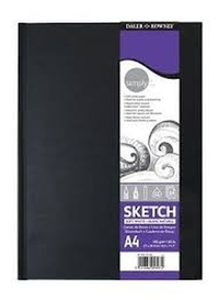 Simply Artist Hardback Sketchbook 100gsm Acid Free 54 Sheets - 21x29.7 cm