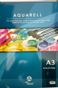 Aquarell basic pad A3 420x297mm 15 sheets