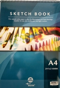 Sketch book 25 Sheets A4 297x210mm